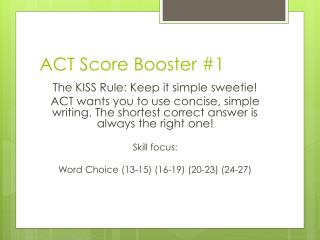 ACT Score Booster #1