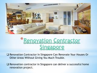 Renovation Contractor In Singapore