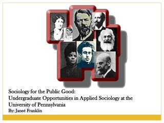 Sociology for the Public Good: