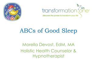 ABCs of Good Sleep