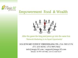 Empowerment  Food  &  Wealth  After  the game the king and pawn go into the same box