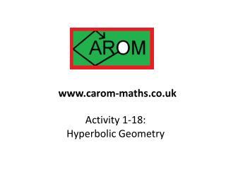 Activity 1-18:  Hyperbolic Geometry