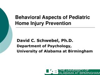 Behavioral Aspects of Pediatric Home Injury Prevention