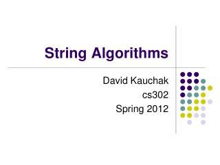 String Algorithms