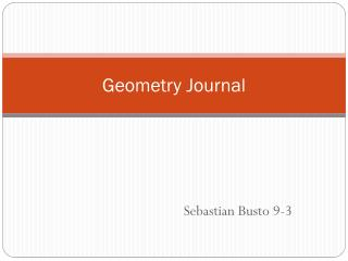 Geometry Journal