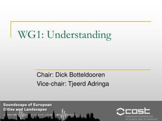 WG1: Understanding