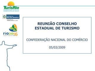 REUNIÃO CONSELHO  ESTADUAL DE TURISMO CONFEDERAÇÃO NACIONAL DO COMÉRCIO 05/03/2009