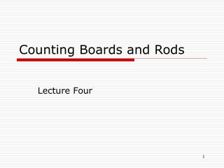 Counting Boards and Rods