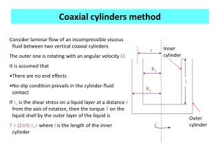 Coaxial cylinders method