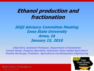 Ethanol production and fractionation