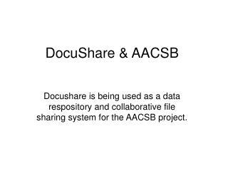 DocuShare & AACSB