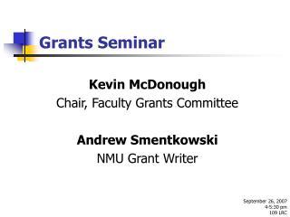 Grants Seminar