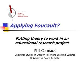 Applying Foucault?