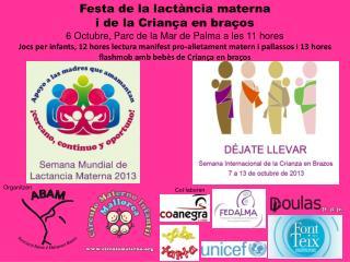 Festa de la lactància materna  i de la Criança en braços