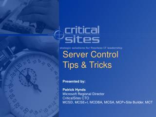 Server Control  Tips  Tricks