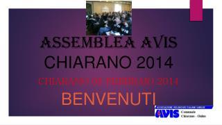 ASSEMBLEA AVIS CHIARANO 2014