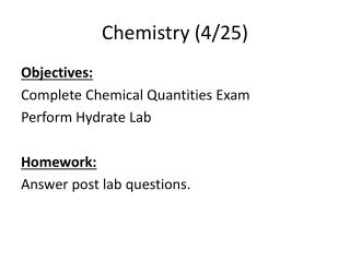 Chemistry (4/25)