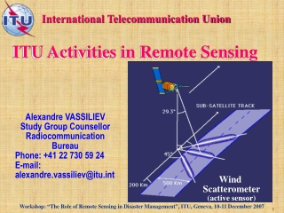 ITU Activities in Remote Sensing