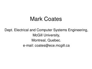 Mark Coates