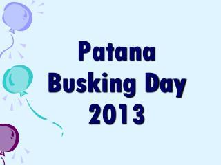 Patana Busking Day 2013