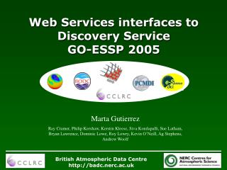 Web Services interfaces to Discovery Service GO-ESSP 2005