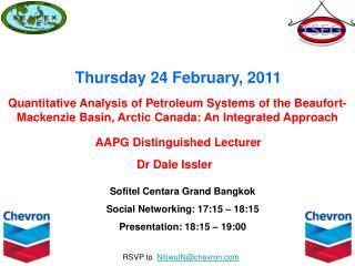 Sofitel Centara Grand Bangkok Social Networking: 17:15 – 18:15 Presentation: 18:15 – 19:00