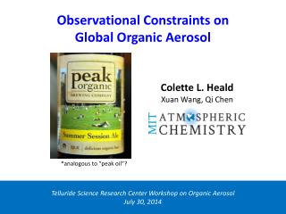 Observational Constraints on  Global Organic Aerosol