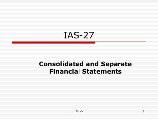 IAS-27