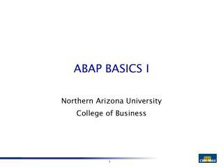 ABAP BASICS I