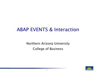 ABAP EVENTS & Interaction