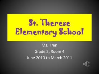 St. Therese Elementary School