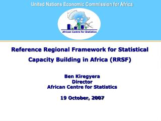 Reference Regional Framework for Statistical Capacity Building in Africa (RRSF)