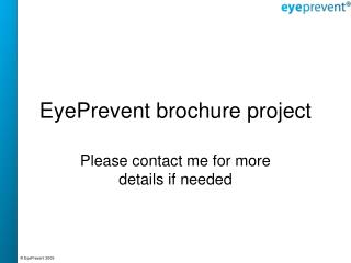 EyePrevent brochure project