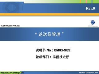 关联 PROCESS: CM. 品质