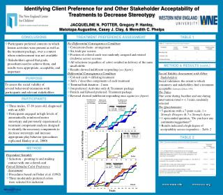 Identifying Client Preference for and Other Stakeholder Acceptability of