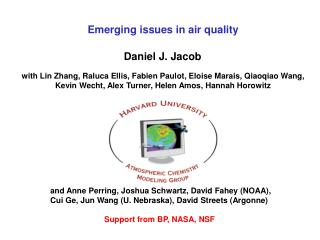 Emerging issues in air quality
