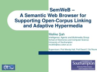A Semantic Web Browser for Supporting Open-Corpus Linking and Adaptive Hypermedia