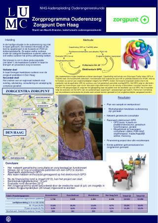 Zorgprogramma Ouderenzorg  Zorgpunt Den Haag