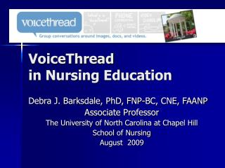VoiceThread  in Nursing Education