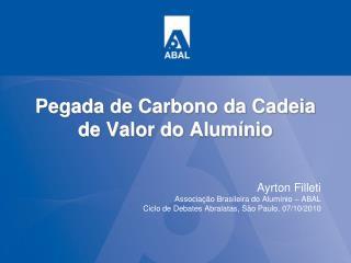 Pegada de Carbono da Cadeia de Valor do Alumínio