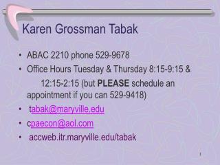 Karen Grossman Tabak