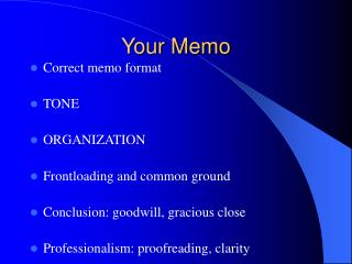 Your Memo