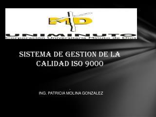 SISTEMA DE GESTION DE LA CALIDAD ISO 9000 .