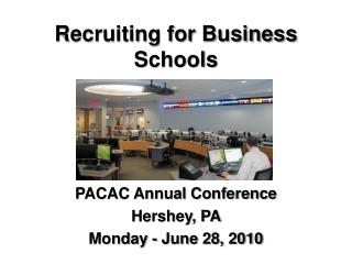 Recruiting for Business Schools