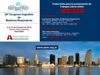 38º Congreso Argentino de Medicina Respiratoria