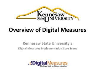 Overview of Digital Measures