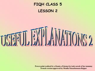 FIQH CLASS 5 LE SSON 2