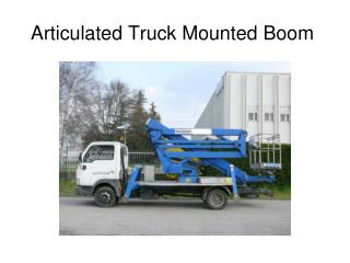 Articulated Truck Mounted Boom