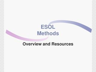 ESOL Methods