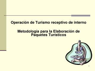 Operación de Turismo receptivo de interno Metodología para la Elaboración de Paquetes Turísticos